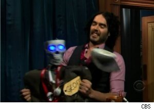 Russell Brand Attacks Geoff on 'Late Late Show'