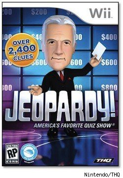 The Jeopardy home game for the Nintendo Wii