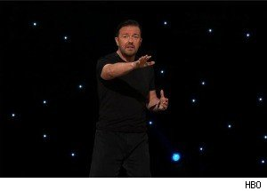 Ricky Gervais Discusses the Bad Economy -- Plus, Some Bad Jokes!