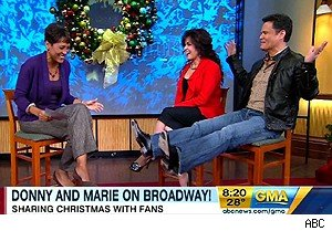 Donny and Marie Osmond on 'Good Morning America'