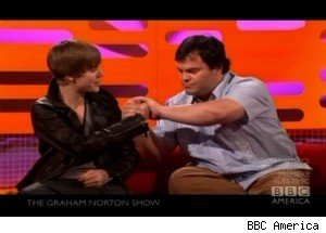 Justin Bieber Busts Out His Jack Black Impression
