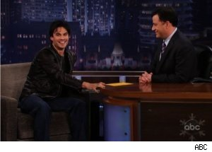 Ian Somerhalder Gives Address on 'Kimmel Live'