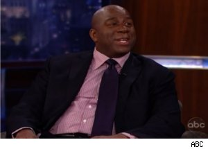 Magic Johnson Talks NFL in LA on 'Jimmy Kimmel'