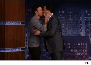 In Further Late Night Smooching News: Brian Austin Green Kisses Jimmy Kimmel