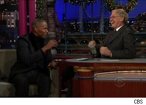 Jamie Foxx, 'Late Show with David Letterman'