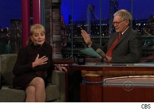 Letterman Debates Barbara Walters' 'Most Fascinating People,' Including Sarah Palin , Justin Bieber