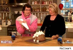 Andy Samberg bakes on 'The Martha Stewart Show'