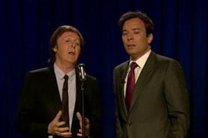 Paul McCartney and Jimmy Fallon
