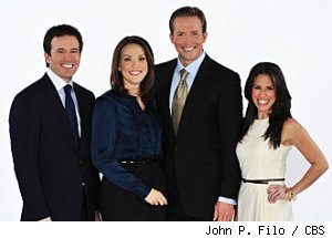 Jeff Glor, Erica Hill, Chris Wragge and Marysol Castro are the new CBS 'Early Show' team