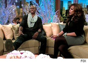 Robbie Jones shows off his big feet to Wendy Williams
