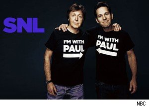Paul McCartney and Paul Rudd on 'SNL' Dec. 11 2010