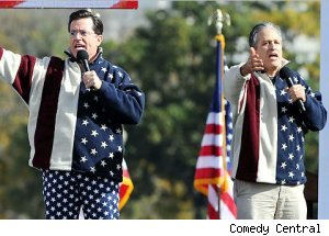 Stephen Colbert &amp; Jon Stewart - 'Rally to Restore Sanity and/or Fear'