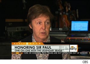 Sir Paul McCartney, 'The Early Show'