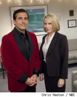 Steve Carell and Amy Ryan in 'The Office' - 'Classy Christmas'