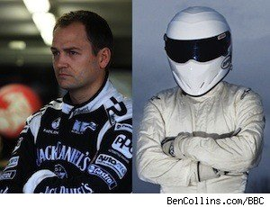 Racing driver Ben Collins and The Stig from BBC's 'Top Gear'