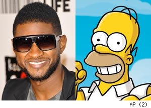 Usher and Homer Simpson