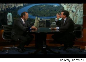 Kevin Spacey Talks 'American Beauty' on 'Colbert'