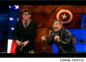 Patrick Carney, Dan Auerbach of The Black Keys on 'Colbert'