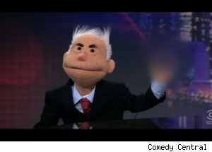 Puppet Version of John McCain on 'Daily'