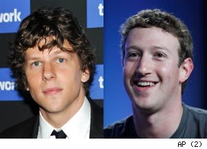 Jesse Eisenberg, Mark Zuckerberg