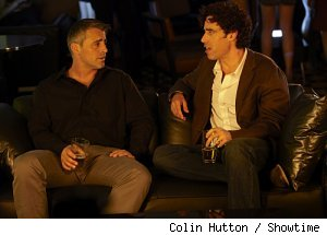 Matt LeBlanc and Stephen Mangan in 'Episodes' on Showtime