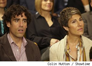 Stephen Mangan and Tamsin Greig as the Lincolns on 'Episodes'