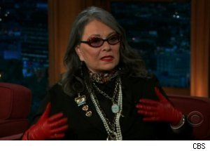 Roseanne Barr Talks Dolly Parton's Tattoos on 'The Late Late Show'