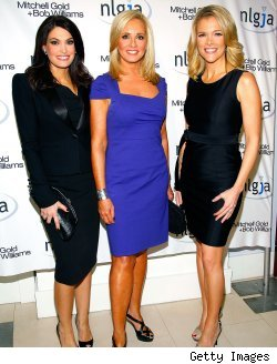 Kimberly Guilfoyle, Jamie Colby and Megyn Kelly of Fox News