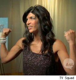Teresa Giudice of 'The Real Housewives of New Jersey' flexes her muscles