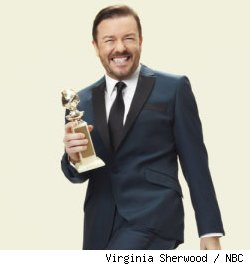 Ricky Gervais hosts the 68th Annual Golden Globe Awards on NBC 1/18/11