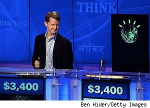 Ken Jennings vs. Watson on a dry run of 
