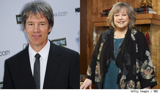 David E. Kelley and Kathy Bates, star of Kelley's new series 'Harry's Law' on NBC