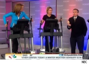 Brian Williams tortures Kathie Lee and Hoda with a doughnut on Today, 1/7/11