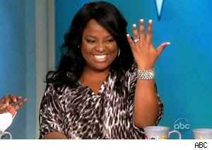 Sherri Shepherd shows off her engagement ring on 'The View'