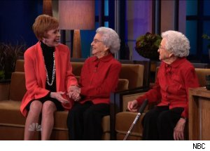 Carol Burnet &amp; 100-Year Old Twins, 'The Tonight Show with Jay Leno'