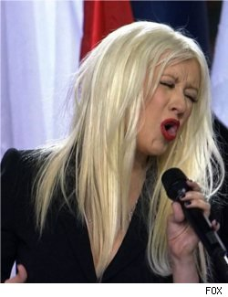 Christina Aguilera at Super Bowl XLV