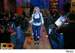Alison Sweeney Attempts a Runway Walk Without Falling on 'Rachael Ray'