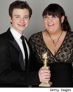 Chris Colfer, Ashley Fink, Golden Globes