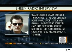 Charlie Sheen Radio Rant Airs on 'The Early Show'