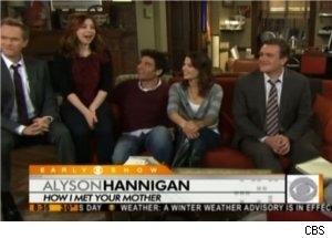Tyler McGill Visits 'HIMYM' Cast