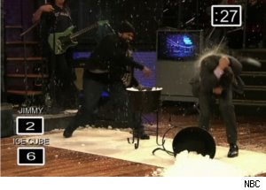 Ice Cube Starts Snowball Fight on 'Late Night'
