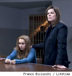 Hayden Panettiere and Marcia Gay Harden in 'Amanda Knox: Murder on Trial in Italy' on Lifetime