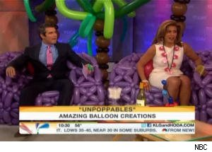 Hoda Kotb and Andy Cohen Play With Balloon Creations on 'Today'