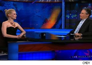 January Jones and Jon Stewart discuss the lack of Jews in South Dakota.