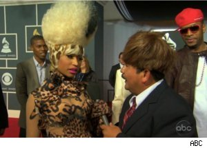 Guillermo Rodriguez, Nicki Minaj at the Grammys