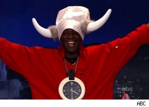Flavor Flav Fries Chicken on 'Jimmy Kimmel'