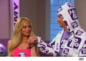 Lindsay Lohan's Humpilates on Kimmel