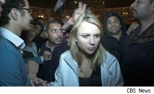 Lara Logan minutes before she was assaulted in Egypt.