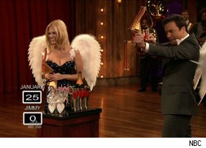 January Jones, 'Late Night with Jimmy Fallon'