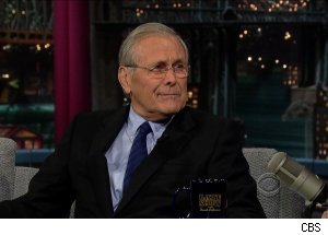 Donald Rumsfeld, 'Late Show with David Letterman'